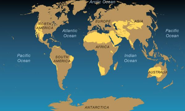 Africa Physical Map 2014 Extreme Environments -...